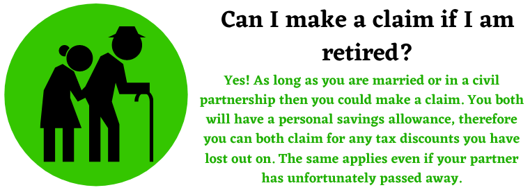 retired tax marriage claims assistance