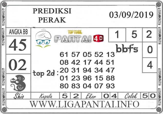 """PREDIKSI TOGEL """"PERAK"""" PANTAI4D 03 SEPTEMBER 2019"""