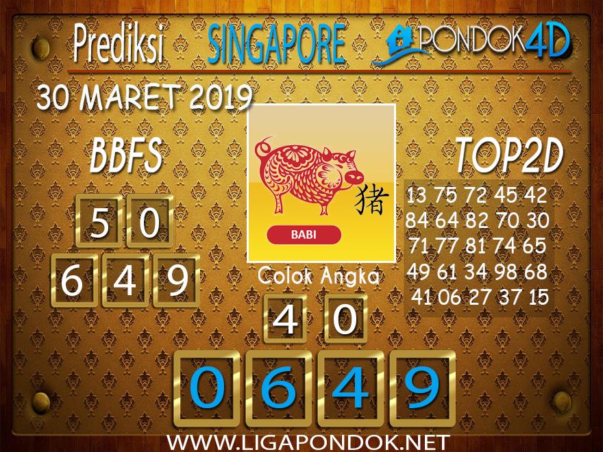 Prediksi Togel SINGAPORE PONDOK4D 30 MARET 2019