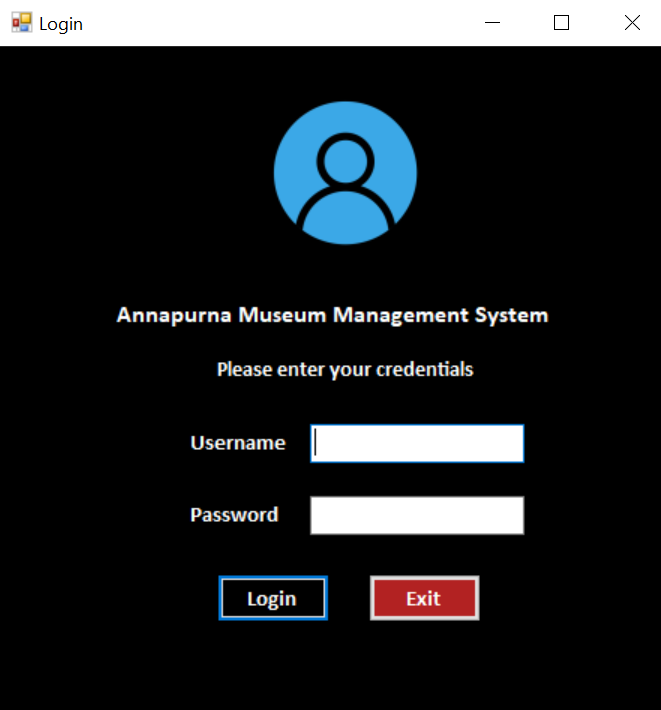 museum management system csharp c# project login system
