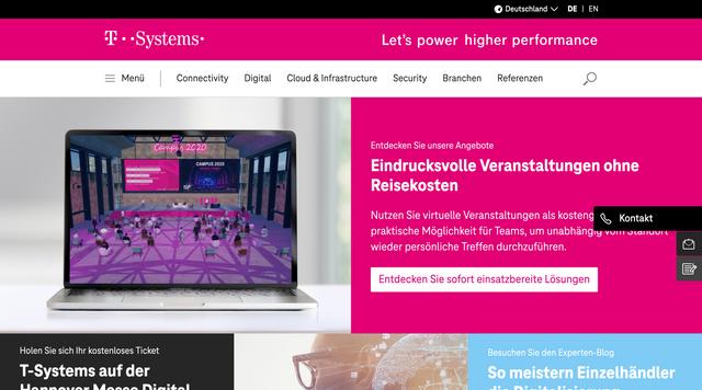 Webseite www.t-systems.com/de/de