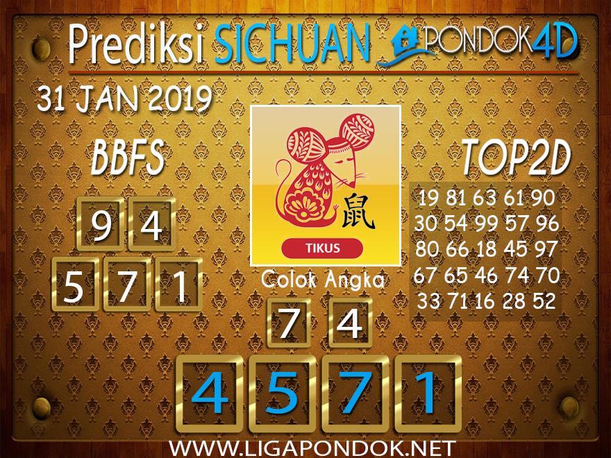 Prediksi Togel SICHUAN PONDOK4D 31 JANUARI 2019