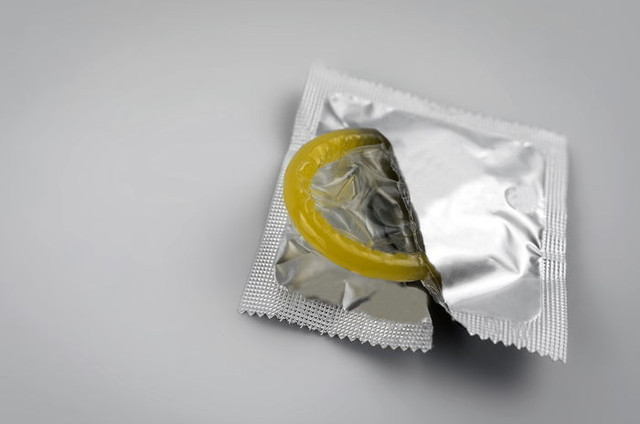 Condom-close-up-isolated-Contraceptive-protection-from-pregnancy-AIDS
