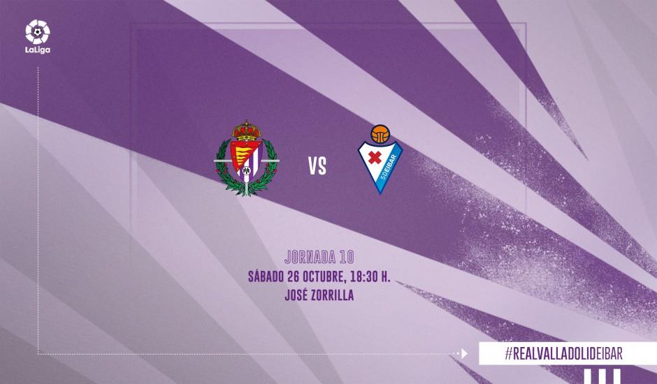 Real Valladolid C.F. - S.D. Eibar. Sábado 26 de Octubre. 18:30 RV-SDE