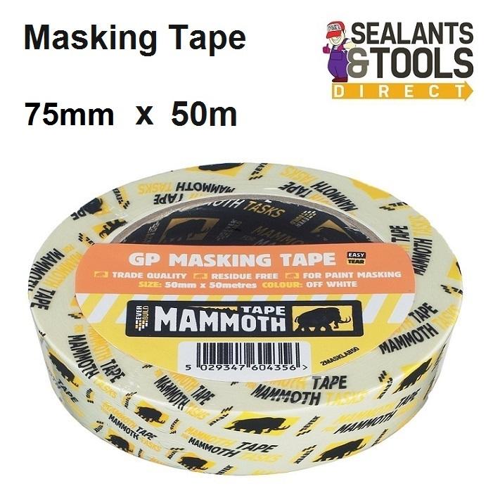 Everbuild Mammoth Masking Tape 75mm X 50m 2MASKLAB75