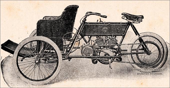 tricar Stimula 5-6 HP, 1906, trivoiturette, ateliers de la Grosne à Cormatin