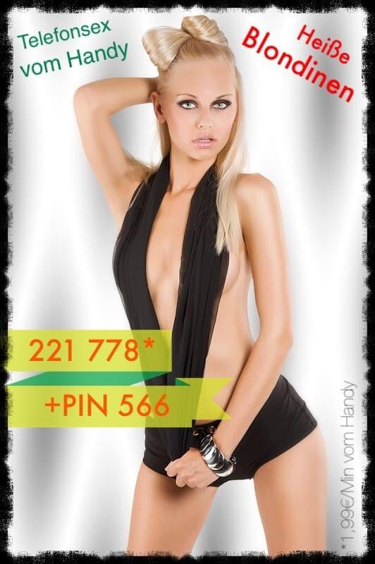 Lust eine heiße Blondine live am Telefon zu poppen, dann ruf jetzt und hier für Telefonsex vom Handy an