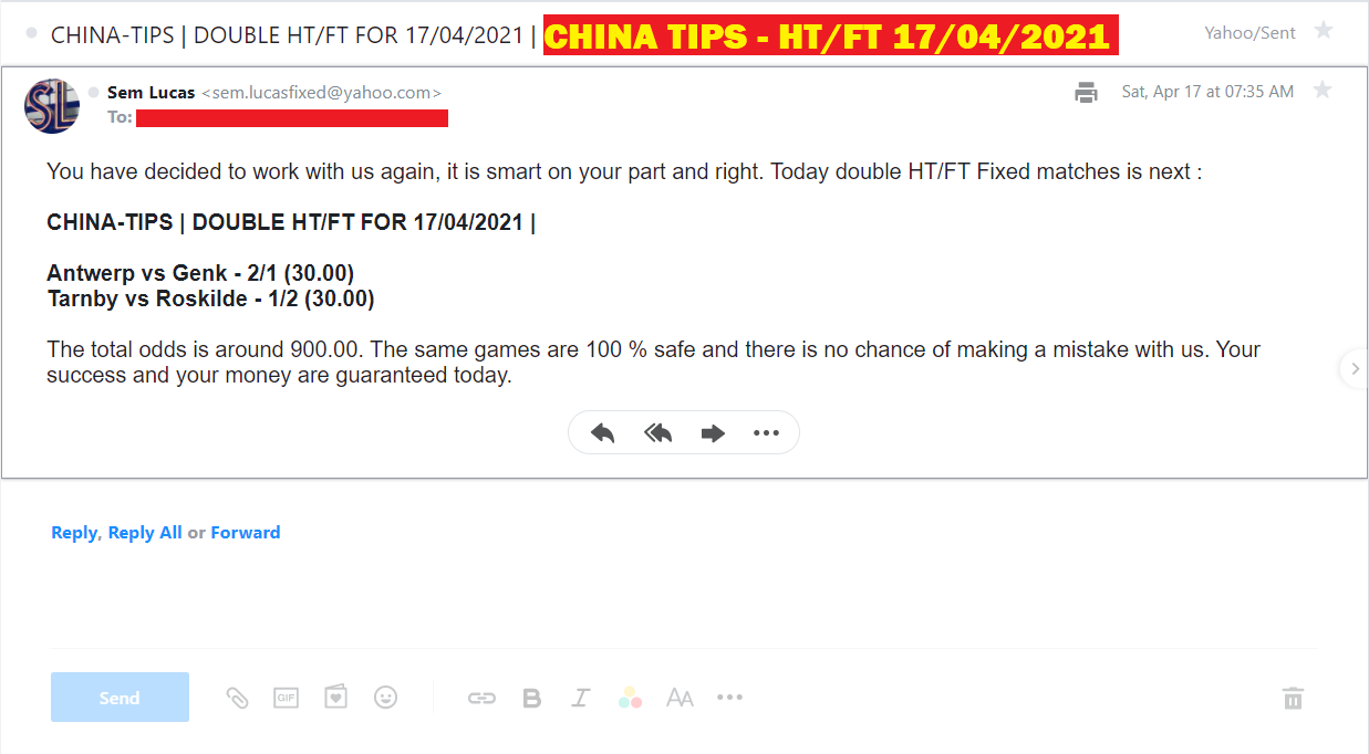 CHINA DOUBLE HT/FT FOR 17/04/2021 | CHINA DOUBLE HT / FT FIXED MATCHES