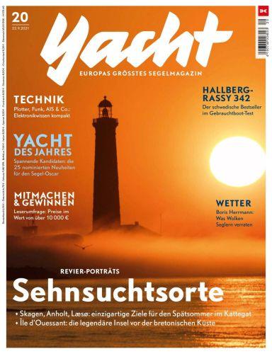 Cover: Yacht Das Segelmagazin No 20 vom 22  September 2021