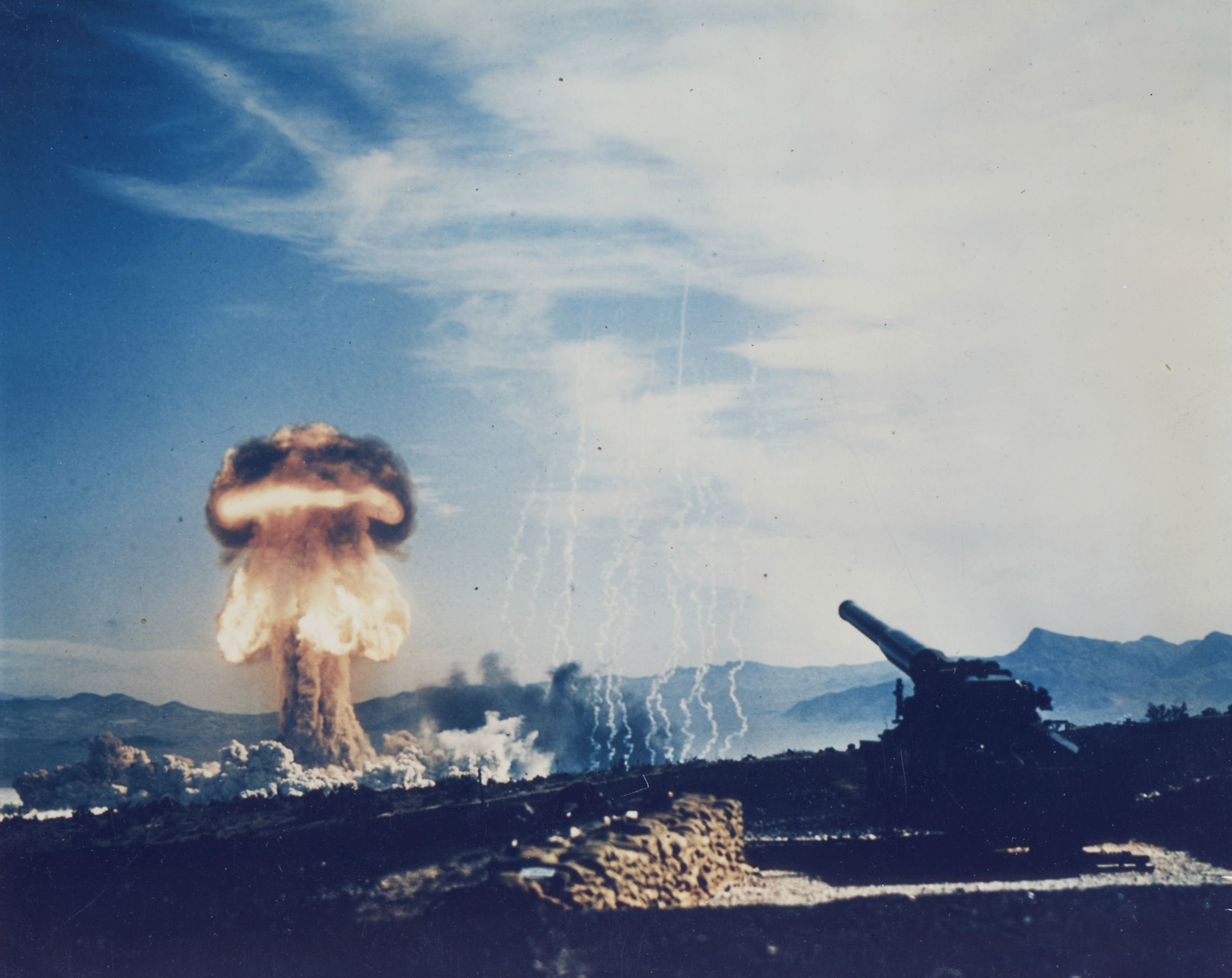 On April 22, 1952, the explosion of the atomic bomb in Nevada