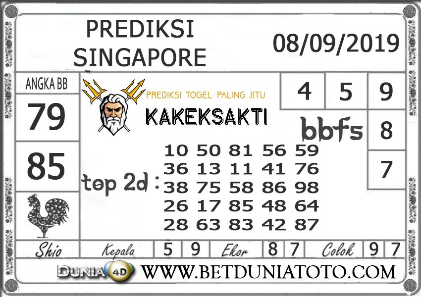 """Prediksi Togel """"SINGAPORE"""" DUNIA4D 08 SEPTEMBER 2019"""