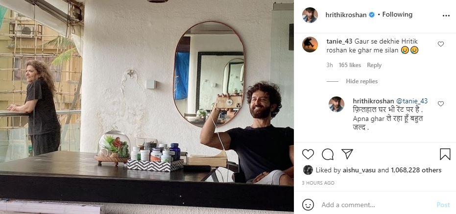 , 'Hrithik Roshan ke ghar par silan?' asks Instagram user, actor wins internet with honest response,