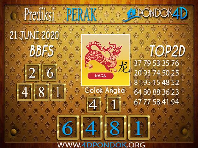 Prediksi Togel PERAK PONDOK4D 21 JUNI 2020