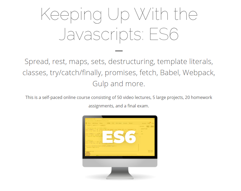 Keeping Up With the Javascripts - Part 1: ES6