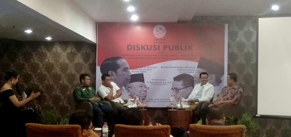 situasi Diskusi pulik Debat calon Presiden di Samarinda.