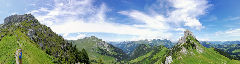 Panoramic View Fribourg Pre-Alps