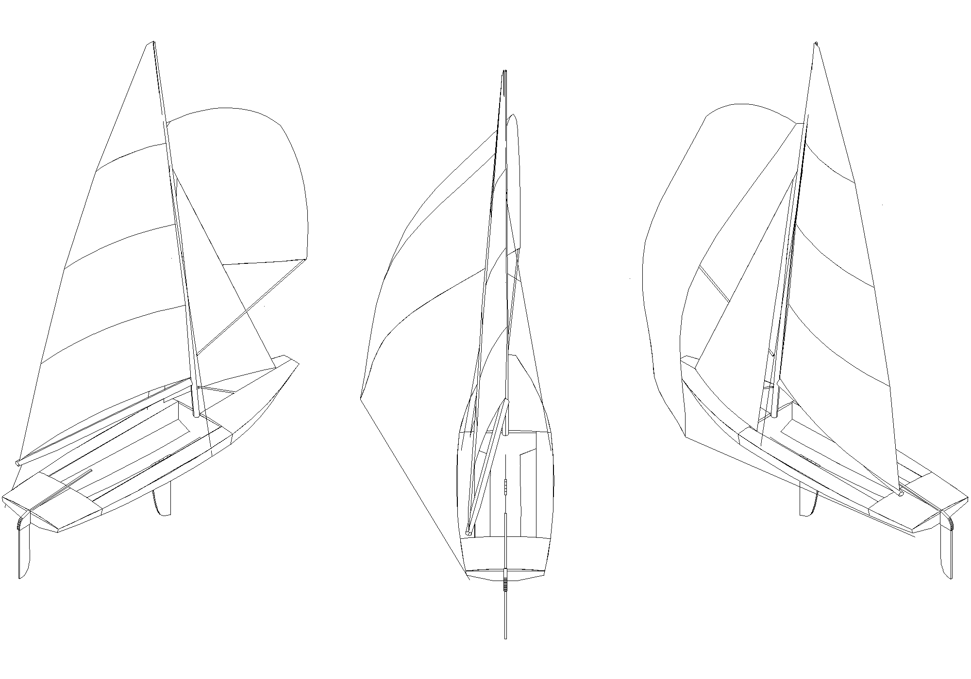 The boat, base view for systems diagrams