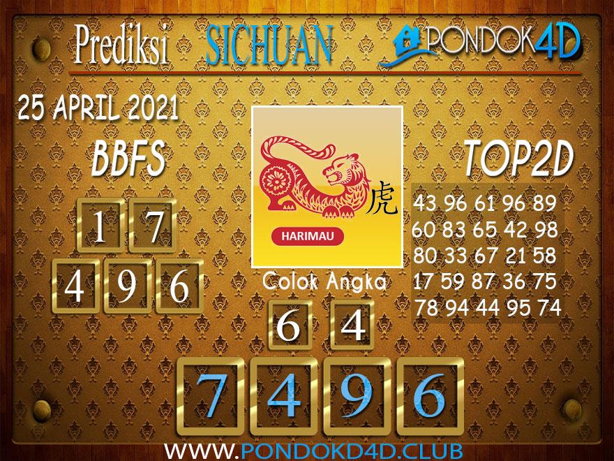 Prediksi Togel SICHUAN PONDOK4D 25 APRIL 2021
