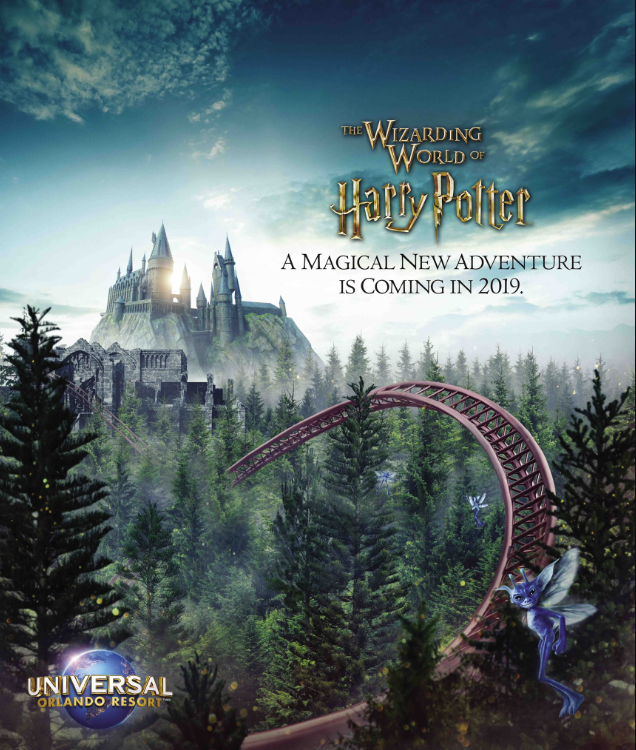 Harry Potter coaster at the Wizarding World of Harry Potter