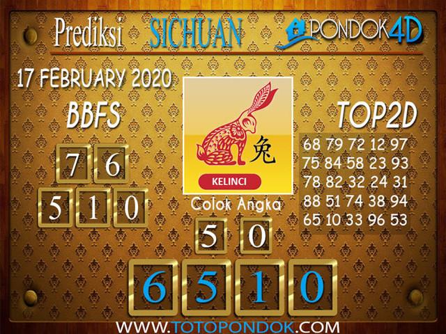 Prediksi Togel SICHUAN PONDOK4D 17 FEBRUARY 2020