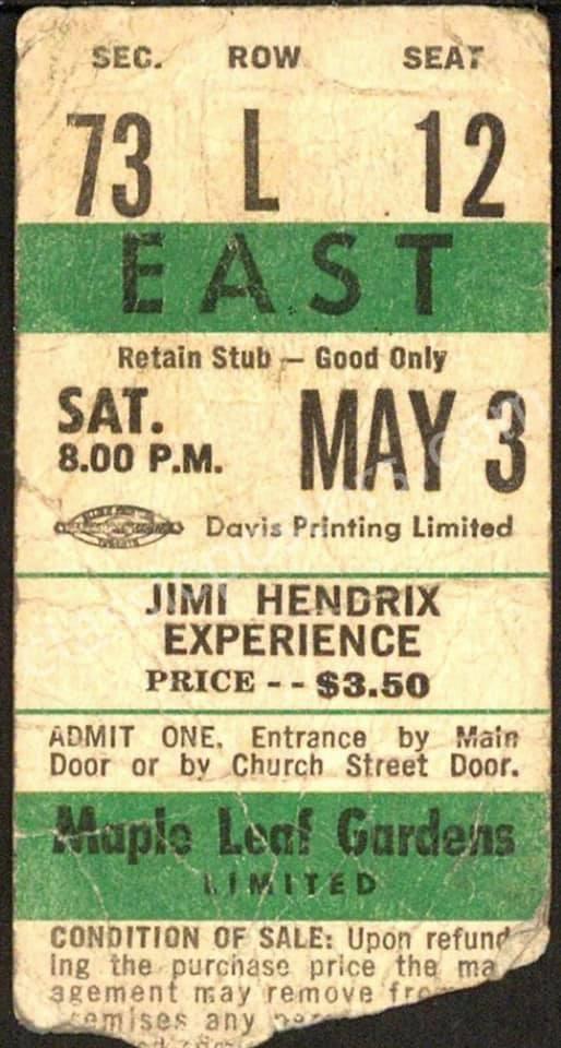 Toronto (Maple Leaf Gardens) : 3 mai 1969  60450086-10156803853461758-1330909192780775424-n