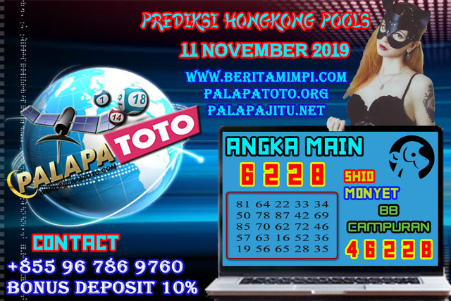 PREDIKSI TOGEL HONGKONG PALAPATOTO 11 NOVEMBER 2019