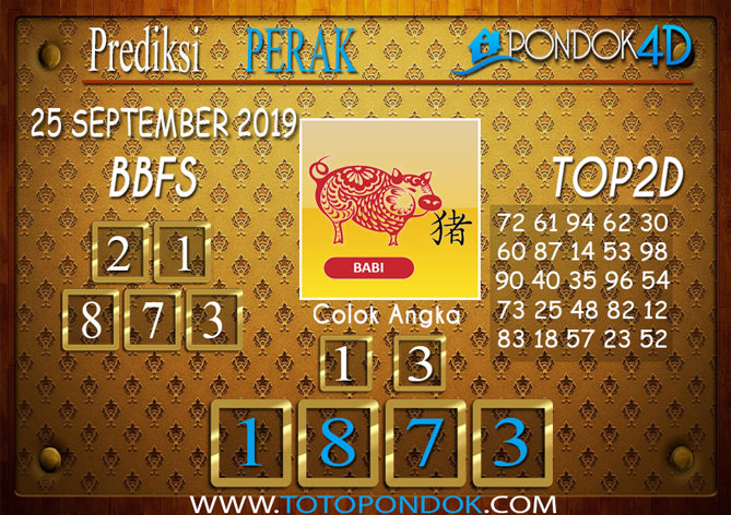 Prediksi Togel PERAK PONDOK4D 25 SEPTEMBER 2019
