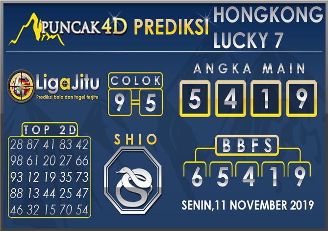 PREDIKSI TOGEL HONGKONG LUCKY7 PUNCAK4D 11 NOVEMBER 2019