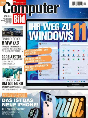 Cover: Computer Bild Xxl Magazin No 20 vom 24  September 2021