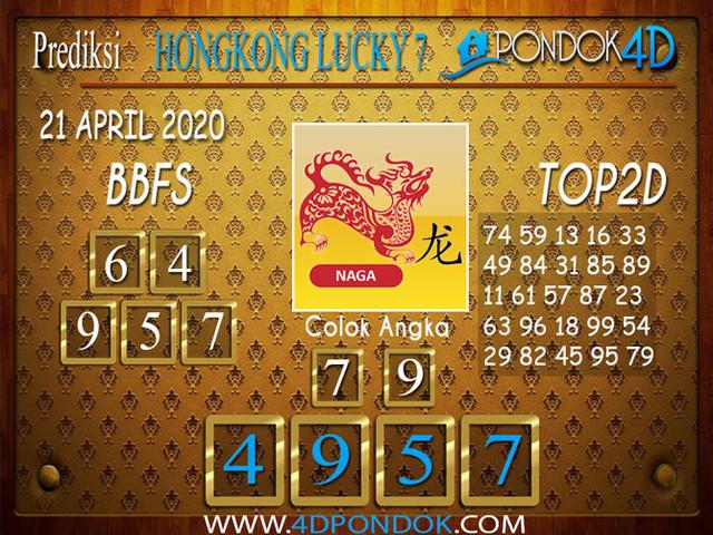 Prediksi Togel HONGKONG LUCKY 7 PONDOK4D 21 APRIL 2020