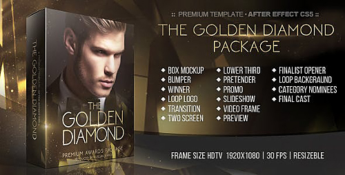 The Golden Diamond Awards Package - Project for After Effects (Videohive)