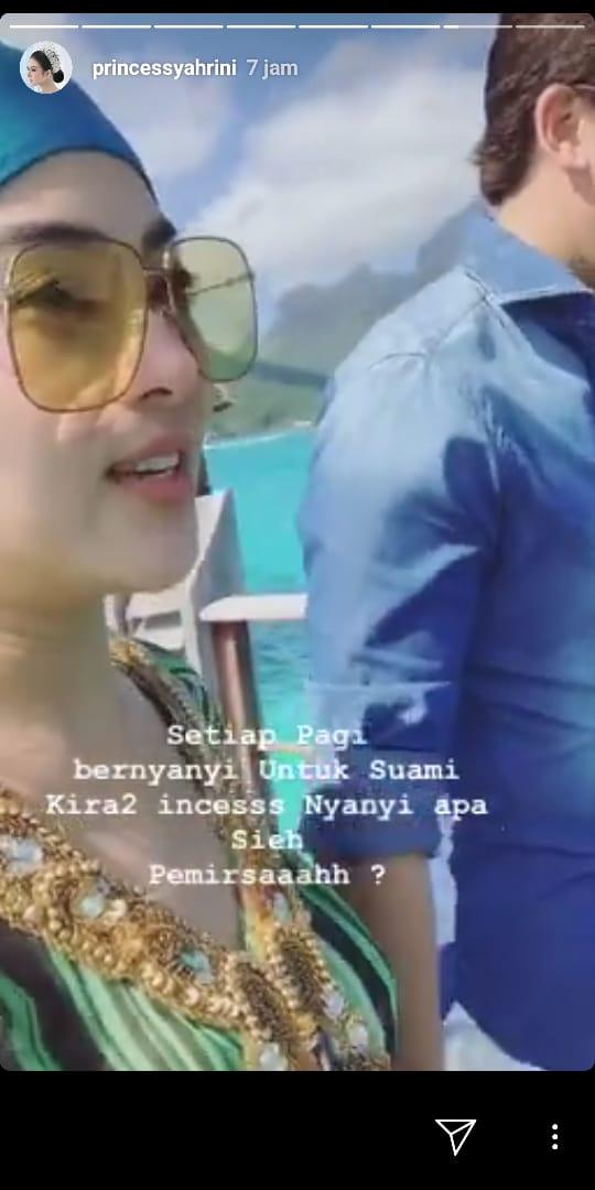Unggahan Syahrini di Instagram Story