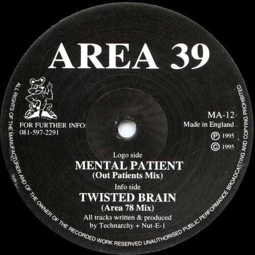 Download Area 39 - Mental Patient / Twisted Brain mp3