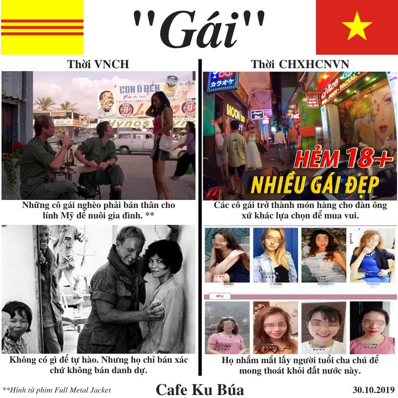 """""""LÀM GÁI"""" THỜI VNCH VS CHXHCNVN"""