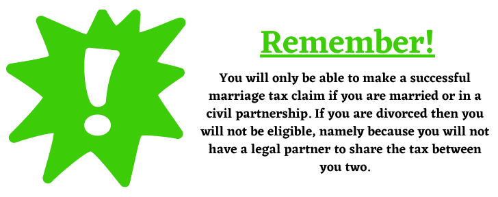 divorce and marriage tax claims