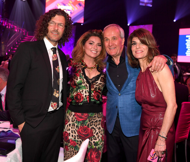 LAS-VEGAS-NEVADA-MARCH-16-L-R-Frederic-Thiebaud-Shania-Twain-Co-Founder-and-Chairman-of-Keep-Memory-