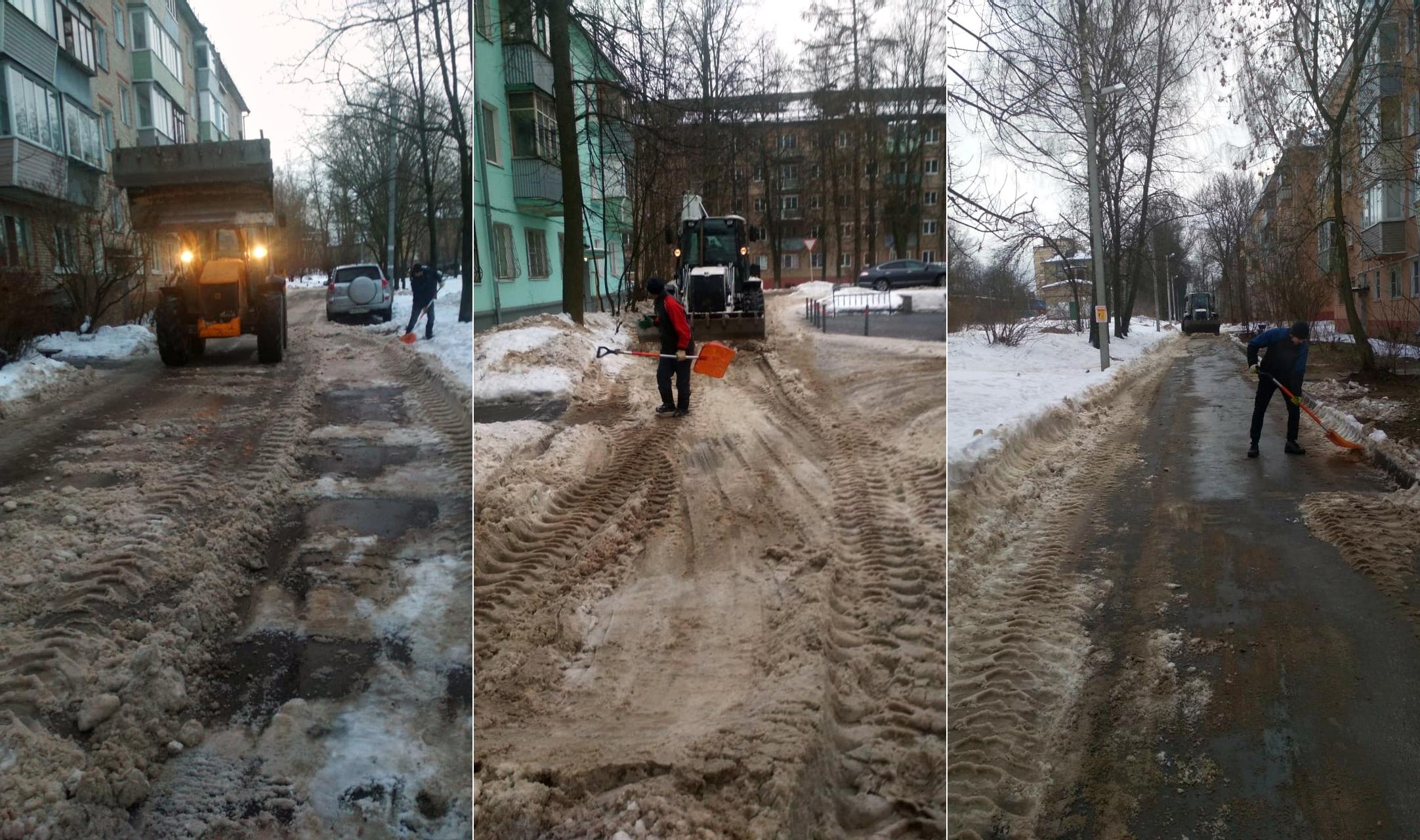 Убрали и вывезли снег со дворов на Полигоне