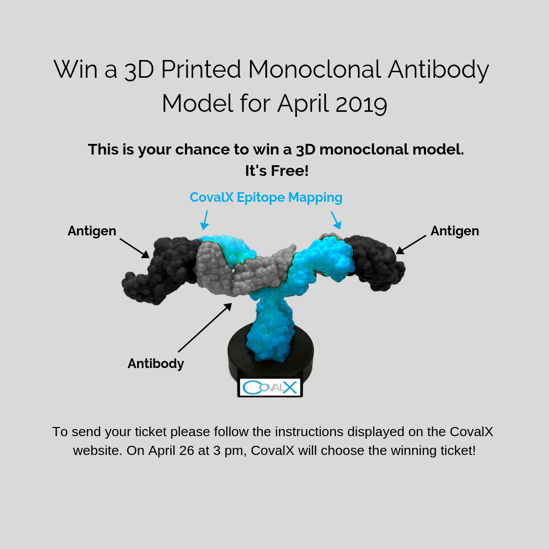 CovalX 3D Printed mAb Model Contest - April 2019