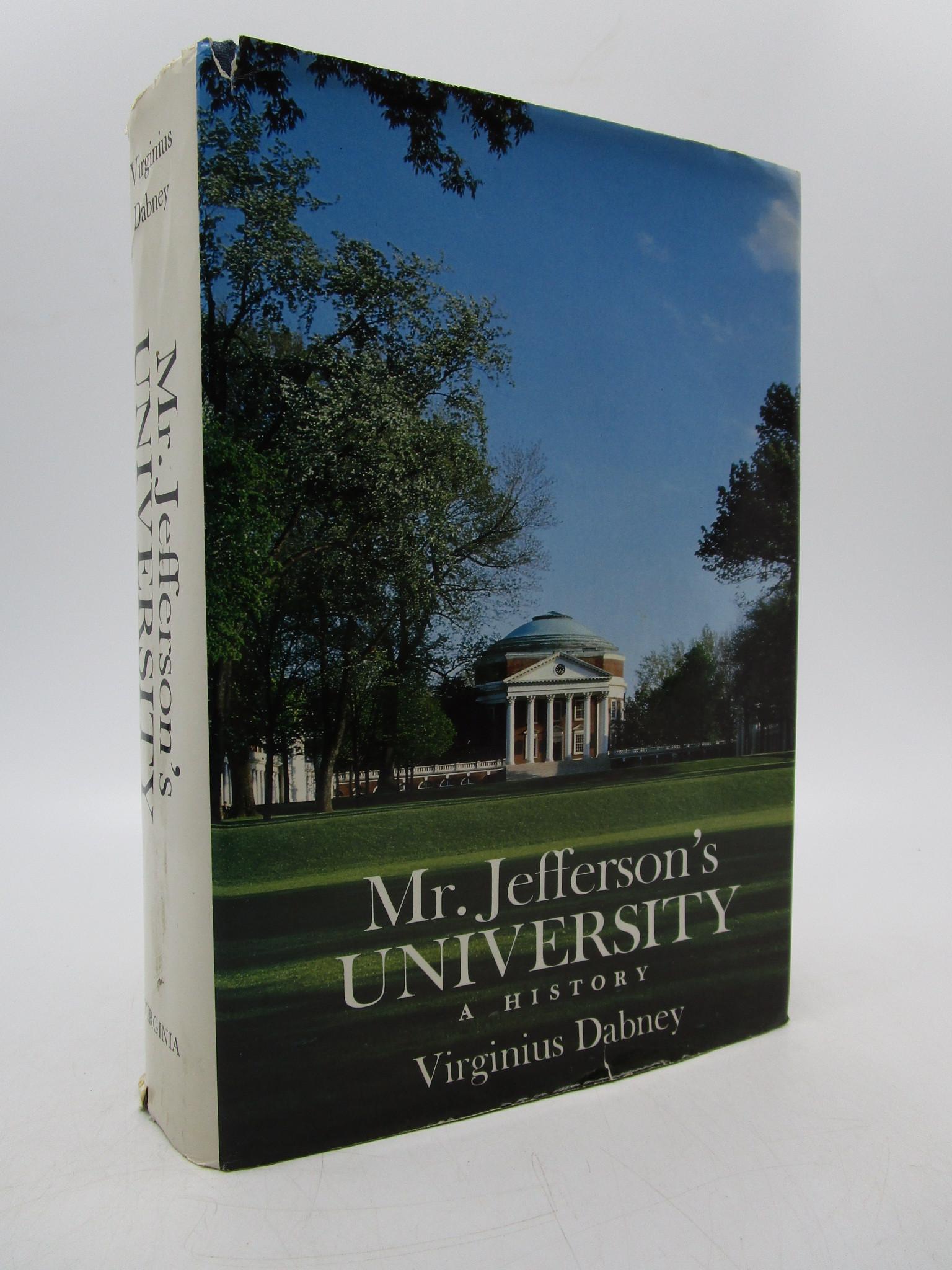 Image for Mr. Jefferson's University: A History