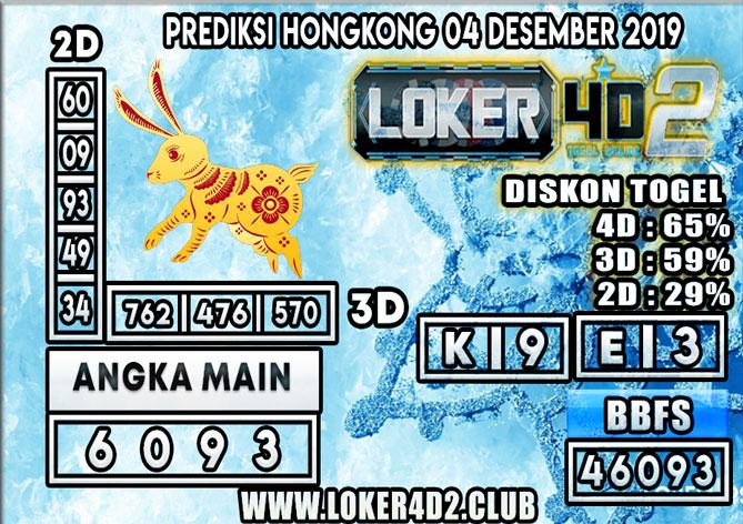 PREDIKSI TOGEL HONGKONG POOLS LOKER4D2 04 DESEMBER 2019