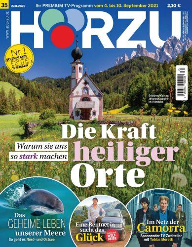 Cover: Hörzu Fernsehzeitschrift No 35 vom 27  August 2021
