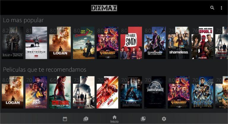 DIXMAX APK PARA VER PELICULAS Dixmax-captura-1-768x419