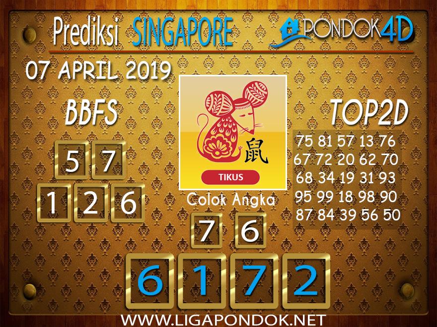 Prediksi Togel SINGAPORE PONDOK4D 07 APRIL 2019