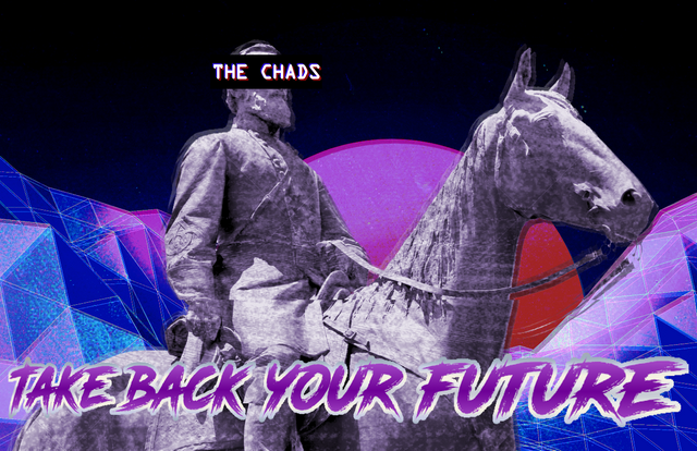 The Chads fashwave art.
