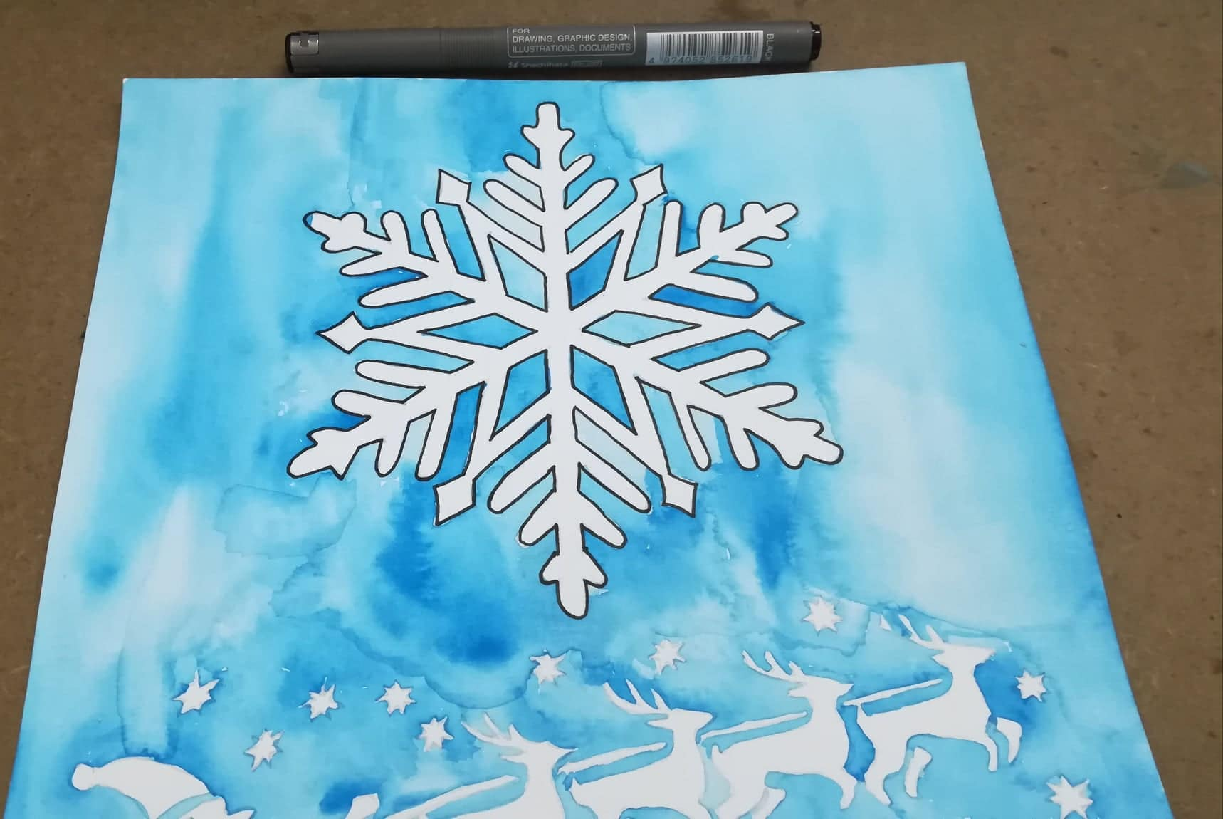 Christmas Art | The Snowflake | Coloring Is Hip
