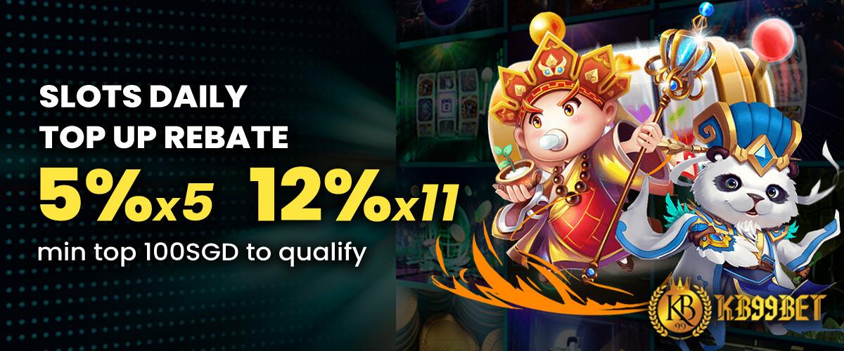 slots topup 12%