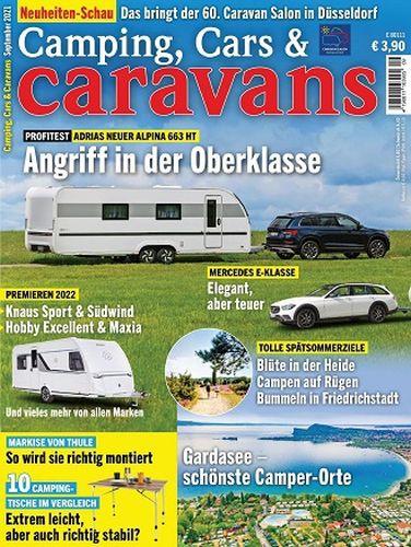 Cover: Camping Cars und Caravans Magazin No 09 September 2021