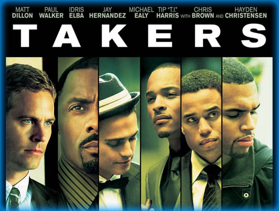 The cast from top left: John Rahway (Paul Walker), Gordon Cozier (idris Elba), A.J. (Hayden Christiansen), Dalores Rivers (T.I.), Jake Attica (Michael Ealy), and Jesse Attica (Chris Brown)