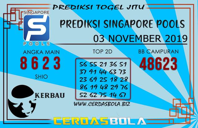 """Prediksi Togel """"SINGAPORE"""" CERDASBOLA 03 NOVEMBER 2019"""