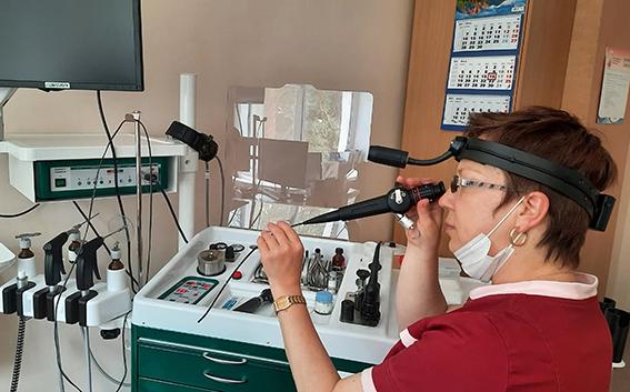 Полное название поступившего недавно в распоряжение врачей риноскопа - назофаринголарингоскоп - говорит о широких возможностях его применения